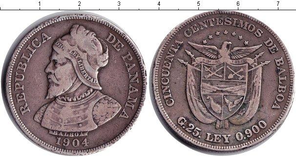 Картинка Монеты Панама 50 сентесим Серебро 1904