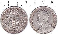 Изображение Монеты Новая Зеландия 1/2 кроны 1933 Серебро XF Георг V