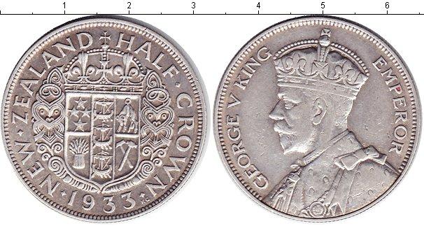 Картинка Монеты Новая Зеландия 1/2 кроны Серебро 1933