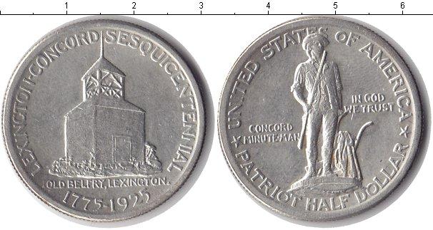 Картинка Монеты США 1/2 доллара Серебро 1925