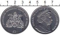 Изображение Мелочь Остров Вознесения 2 фунта 2013 Медно-никель UNC Бриллиантовый юбилей