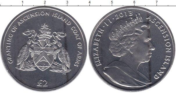 Картинка Мелочь Остров Вознесения 2 фунта Медно-никель 2013