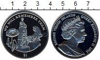 Изображение Мелочь Виргинские острова 1 доллар 2014 Медно-никель UNC Мы будем помнить их!