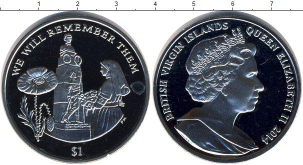 Картинка Мелочь Виргинские острова 1 доллар Медно-никель 2014