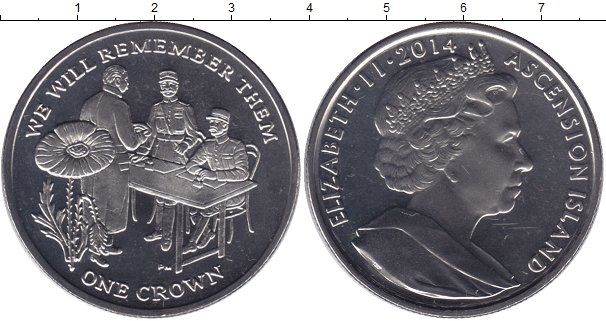 Картинка Мелочь Остров Вознесения 1 крона Медно-никель 2014