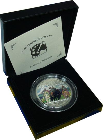 Изображение Подарочные монеты Острова Кука Картина Богатыри 2010 Серебро Proof `Подарочная монета п