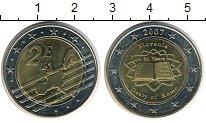 Изображение Мелочь Словения 2 евро 2007 Биметалл XF
