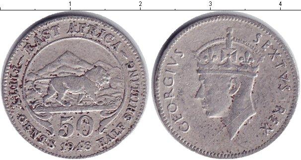 Картинка Монеты Восточная Африка 50 центов Медно-никель 1948