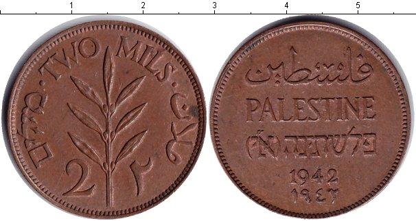 Картинка Монеты Палестина 2 милса Медь 1942