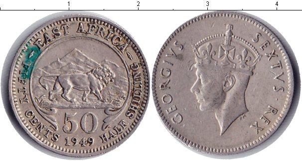 Картинка Монеты Восточная Африка 50 центов Медно-никель 1949
