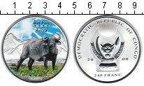 Изображение Монеты Конго 240 франков 2008 Серебро Proof- Буйвол