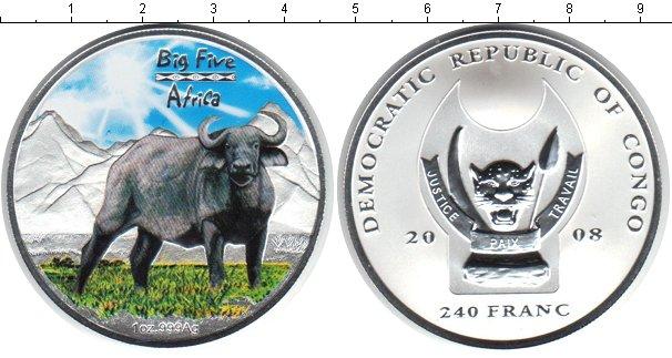 Картинка Монеты Конго 240 франков Серебро 2008
