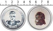 Изображение Монеты Камбоджа 3000 риель 2006 Серебро UNC Год собаки.