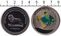 Изображение Монеты Конго 5 франков 2005 Медно-никель Proof- Защита животного мир