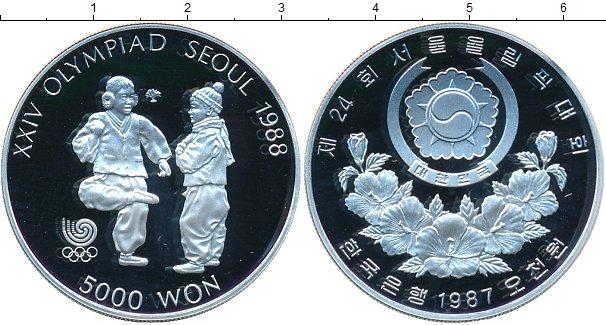 Картинка Монеты Южная Корея 5.000 вон Серебро 1987