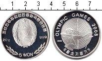 Изображение Монеты Северная Корея 5 вон 2006 Серебро Proof-