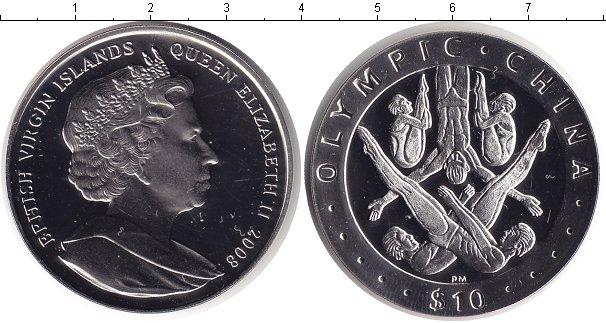 Картинка Монеты Виргинские острова 10 долларов Серебро 2008