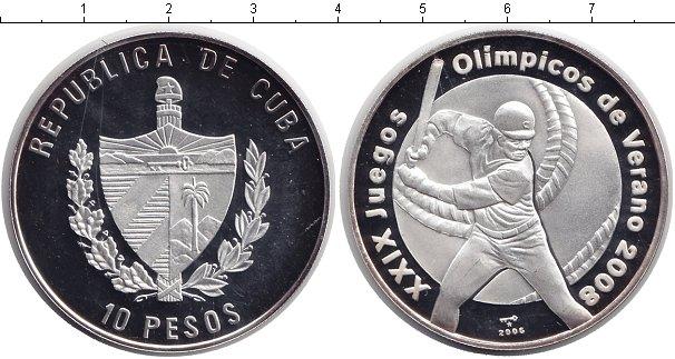 Картинка Монеты Куба 10 песо Серебро 2006