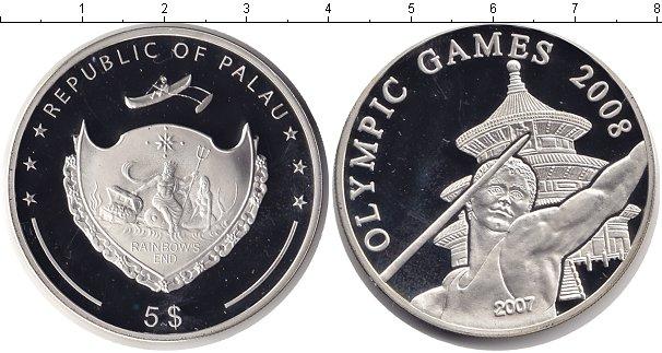 Картинка Монеты Палау 5 долларов Серебро 2007