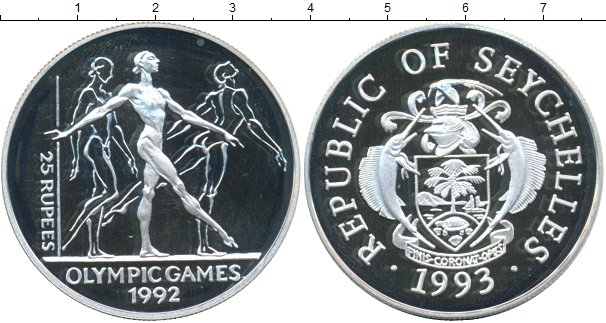 Картинка Монеты Сейшелы 25 рупий Серебро 1992