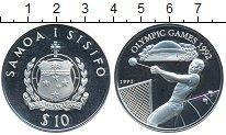 Изображение Монеты Самоа 10 долларов 1992 Серебро Proof- Олимпийские игры 199