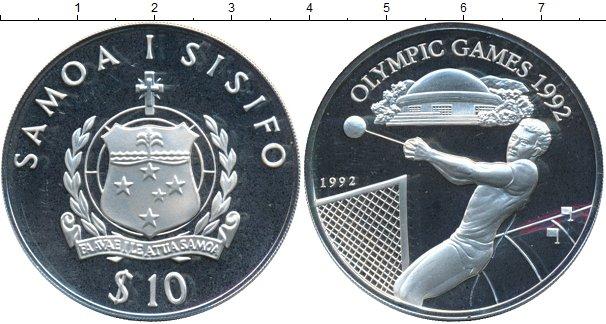 Картинка Монеты Самоа 10 долларов Серебро 1992