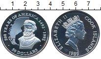 Изображение Монеты Острова Кука 50 долларов 1989 Серебро Proof- Елизавета II