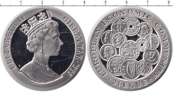 Картинка Монеты Гибралтар 21 экю Серебро 1993
