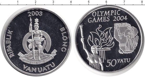 Картинка Монеты Вануату 50 вату Серебро 2003