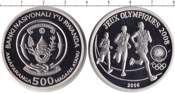 Картинка Монеты Руанда 500 франков Серебро 2006