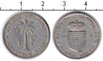 Изображение Монеты Бельгийское Конго 1 франк 1958 Алюминий  Пальма.