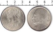 Изображение Монеты Чехословакия 100 крон 1977 Серебро UNC- Вацлав Голлар.