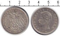 Изображение Монеты Бавария 2 марки 1900 Серебро XF Отто