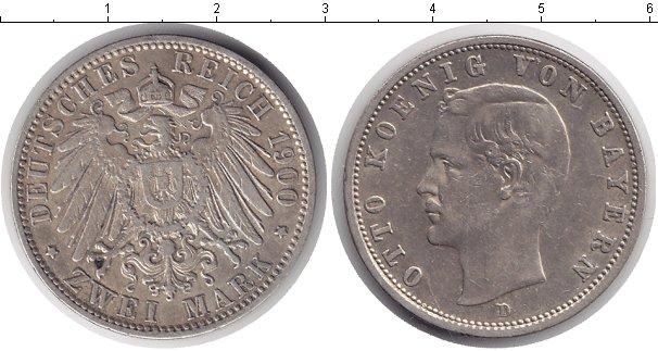 Картинка Монеты Бавария 2 марки Серебро 1900