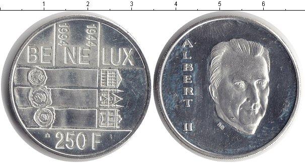 Картинка Монеты Бельгия 250 франков Серебро 1994