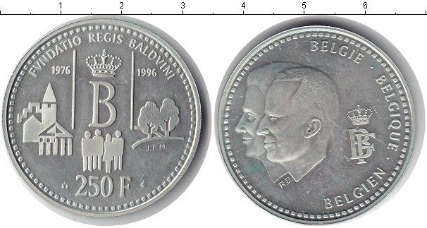 Картинка Монеты Бельгия 250 франков Серебро 1996