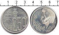 Изображение Монеты Бельгия 250 франков 1997 Серебро Proof- 60 лет королеве Паол