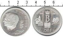 Изображение Монеты Бельгия 250 франков 1996 Серебро Proof-