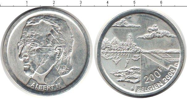 Картинка Монеты Бельгия 200 франков Серебро 2000
