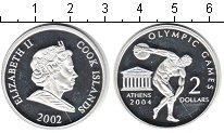 Изображение Монеты Острова Кука 2 доллара 2002 Серебро Proof- Олимпийские игры 200