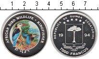 Изображение Монеты Экваториальная Гвинея 7.000 франков 1994 Серебро Proof- птицы