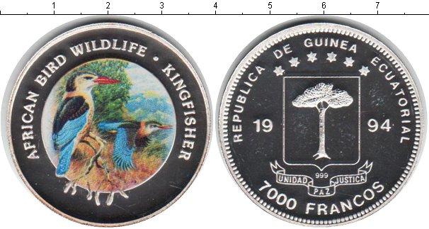 Картинка Монеты Экваториальная Гвинея 7.000 франков Серебро 1994