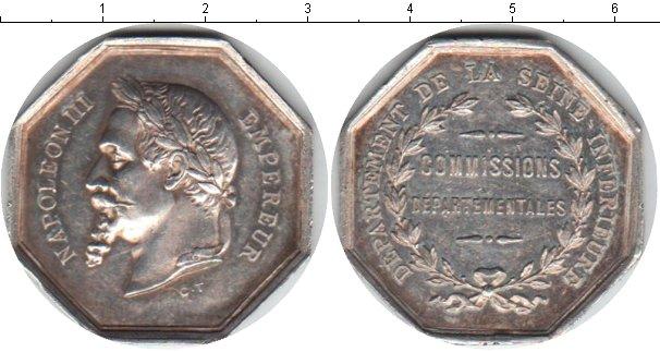 Картинка Монеты Франция жетон Серебро 0