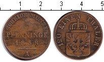 Изображение Монеты Пруссия 3 пфеннига 1858 Медь VF