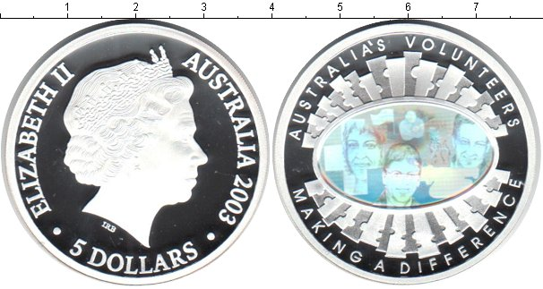 Картинка Монеты Австралия 5 долларов Серебро 2003