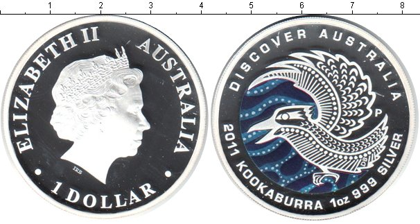Картинка Монеты Австралия 1 доллар Серебро 2011