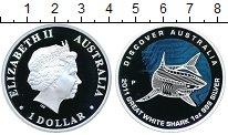 Изображение Монеты Австралия 1 доллар 2011 Серебро Proof Большая белая акула
