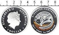 Изображение Монеты Австралия 1 доллар 2011 Серебро Proof Елизавета II. Динго