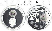 Изображение Монеты Австралия 1 доллар 2012 Серебро Proof Рождественский медал