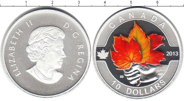 Картинка Монеты Канада 10 долларов Серебро 2013